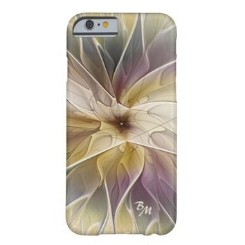 Floral Fantasy Pattern Abstract Fractal Monogram Barely There iPhone 6 Case