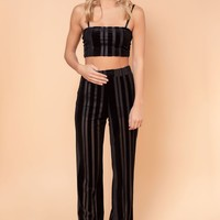 Velveteen Habit Matching Pant Set