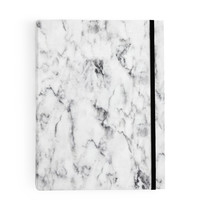 White Marble Notebook Large