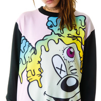 Coveted Society MCKEY Worp Scuba Oversize Crew Multi