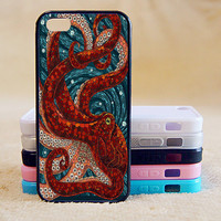 Mosaic octopus,Custom Case, iPhone 4/4s/5/5s/5C, Samsung Galaxy S2/S3/S4/S5/Note 2/3, Htc One S/M7/M8, Moto G/X