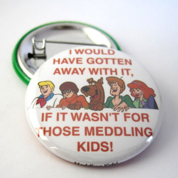 Photo Pinback Button | Badge : Scooby Doo