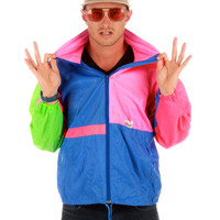 Neon Patchwork Windbreaker