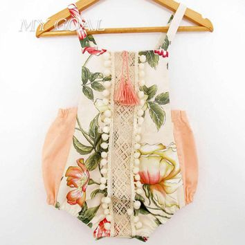 Summer Baby Floral Jumpsuit Baby Girl Romper Toddler print Rompers Baby Jumpsuit Infant Newborn Baby Clothes