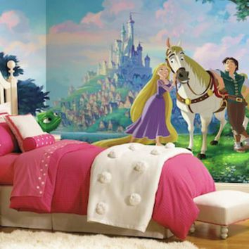 LMFPL3 Disney Princess Tangled XL 7-piece Mural Wall Decal | null
