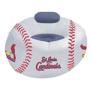 St Louis CARDINALS MLB Inflatable Air CHAIR w/Pump!