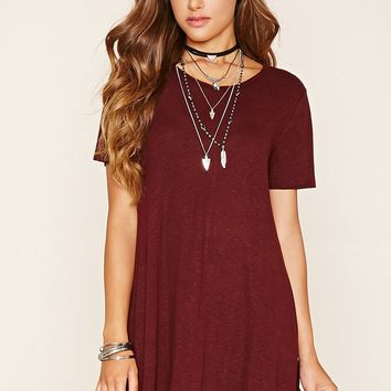 Heathered Knit T-Shirt Dress