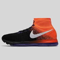 AUGUAU Nike Zoom All Out Flyknit Black White Total Crimson Paramount Blue