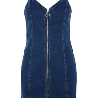 MOTO Zip Denim Dress | Topshop