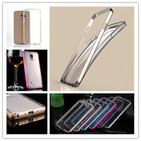 Luxury Aluminum Metal Frame Bumper+TPU Back Cover Case For Samsung Galaxy Series