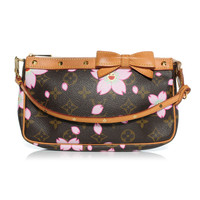 LOUIS VUITTON Cherry Blossom Pochette Accessories Brown
