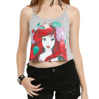 Disney The Little Mermaid Ariel Sketch Girls Crop Tank Top
