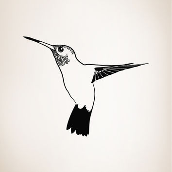 Vinyl Wall Decal Sticker Hummingbird #OS_MB325