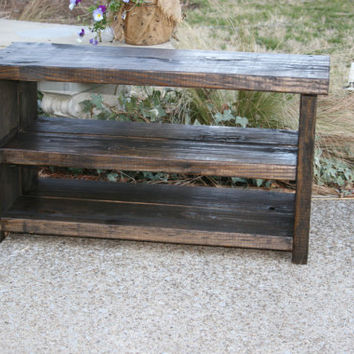 Wood Shoe Storage / Bench Shoe Storage / Shoe Bench / Mud Room / Entry Shoe