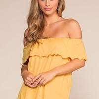 Alley Off The Shoulder Top - Honey
