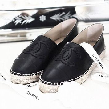 CHANEL Women Trending Espadrilles Flats Shoes