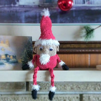 Knitted, Soft, Plushy Santa On A Shelf, Cotton