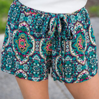Medallion of Honor Shorts, Teal