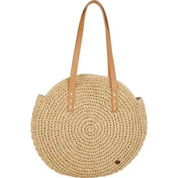 Billabong Women's Round About Straw Tote Bag   Natural