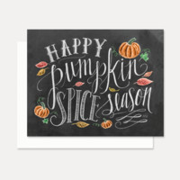 Happy Pumpkin Spice Season - A2 Note Card
