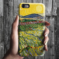 Wheat Field 2 - Van Gogh iPhone Case 6, 6S, 6 Plus, 4S, 5S. Mobile Phone. Art Painting. Gift Idea. Anniversary. Gift for him and her