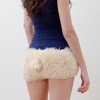 Furry Bunny Shorts (Small/Indie Brands)