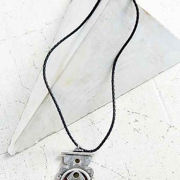 Stones Of Cairo Pendant Necklace- Black One