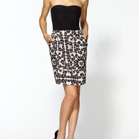 Rebecca Taylor Leopard Strapless Dress | Piperlime