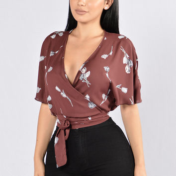 Pisces Top - Burgundy