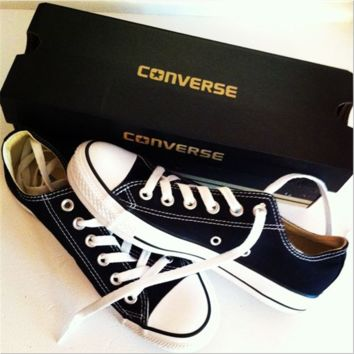 Adult Converse All Star Sneakers Low-Top Leisure shoes Black
