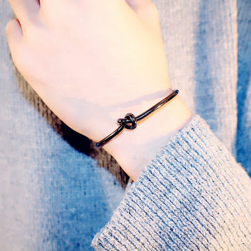 Simple Fashion Personality Knotted Concentric Knot Unisex Bracelet Couple Open Bracelet