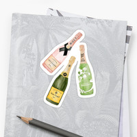 'Champagne' Sticker by lvise