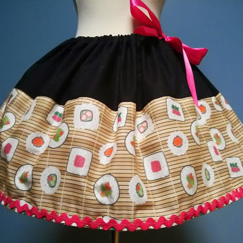 Sushi Skirt, Sushi Mat, Sushi, Adjustable Waist, All Sizes, Plus Size, LOVE LOVE LOVE
