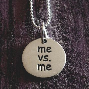 Me vs. Me Sterling Silver Necklace