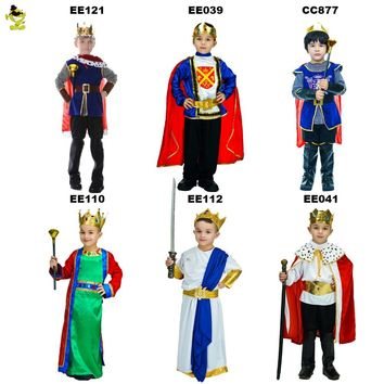 Hot Sales Children King Costumes Halloween Carnival Party Noble Prince Role Play Outfits Boys Leader of Kingdom Cosplay Clothing