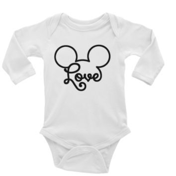 Mickey Love Personalized Long or Short Sleeve Onesuit