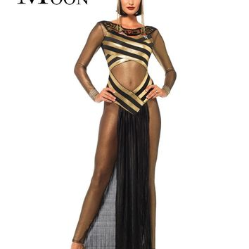 MOONIGHT Disfraces Carnaval Adultos Cosplay Egyptian Cleopatra Costume Gothic Sexy Halloween Costumes For Women