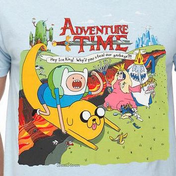 Licensed cool ADVENTURE TIME: HEY ICE KING! WHY'D YOU STEAL OUR GARBAGE? TEE T SHIRT  SHIP