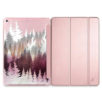 Winter iPad Pro 10.5 Case iPad Pro Smart Cover Hard Case Rose Gold iPad Case Rose Gold iPad Pro 10.5 Case Black  Mountain iPad Case Mint