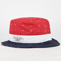 Civil Just Stars Mens Bucket Hat Red/White/Blue One Size For Men 24219294801
