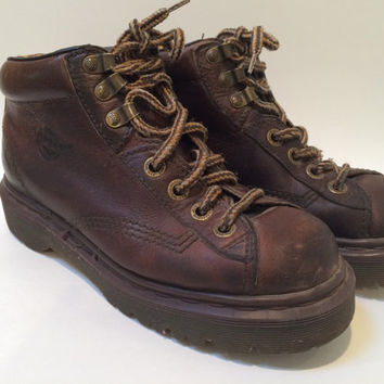 Vintage Brown Leather Ankle Boots by Dr. Marten Ladies US Size 6 UK Size 4 made in England