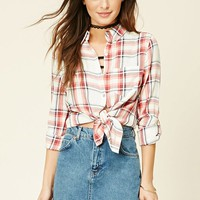 Tartan Plaid Collared Shirt