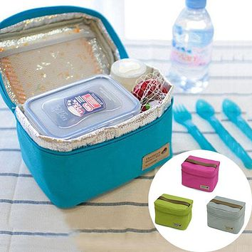 Hot Insulated Convenient Thermal Waterproof Kids Lunch Bento Box Picnic Storage Bag 4 Colors