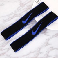NIKE Sport Yoga Gym Motion Headband Hair Hoop Blue