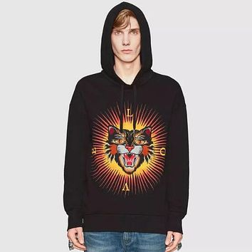 GUCCI Angry Cat Woman Men Fashion Top Sweater Pullover Hoodie