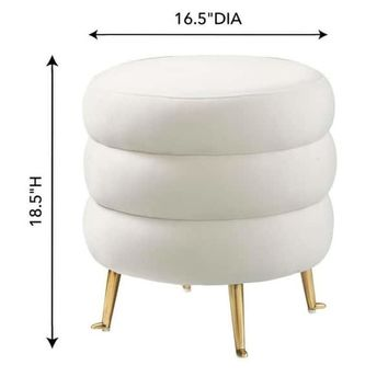 Ladder Cream Velvet Ottoman | Overstock.com Shopping - The Best Deals on Ottomans