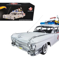 """1959 Cadillac Ambulance Ecto-1 From """"Ghostbusters 1"""" Movie 1-18 Diecast Car Model by Hotwheels"""