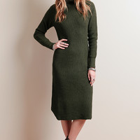 Backwoods Sweater Midi Dress
