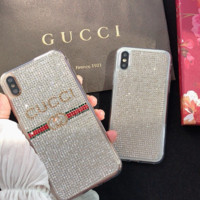 GUCCI Glitter Cover Case for iPhone 6 7 8 PLUS XSMAX XR