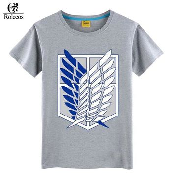 Cool Attack on Titan Rolecos Anime  Cosplay T-shirts no  Cosplay Costume Fashion Summer Cotton Japanese Anime T-shirts AT_90_11